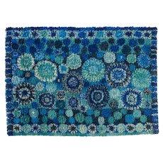 Scandinavian mid century modern rya rug by Marianne Richter. 230 x 165 cm (90.55 x 64.96 in)