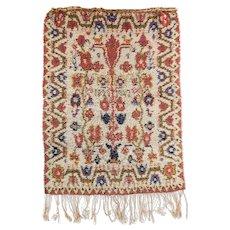Scandinavian mid-century traditional wall hanging rug.
