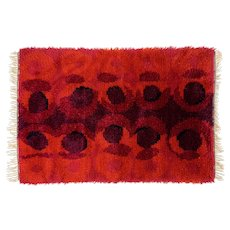 Scandinavian 20th century modern rya rug. 172 X 113 cm (68 X 44 in)