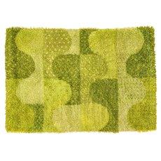 Scandinavian 20th century modern rya rug by Marianne Richter. 200 x 137 cm (79 x 54 in)