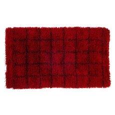 Scandinavian 20th century modern rya rug. 148 x 87 cm (58.27 x 34.25 in)