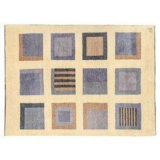 Hand tufted vintage rug by Malin Ångström, for Axeco Svenska AB. 200 x 146 cm (79 x 57 in)