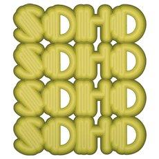 SOHO (Acid Green), 2016. Screenprint in colors on Coventry Rag paper