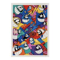 """""""Happiness Everywhere"""" Framed Print by Famous Street Artist Pez"""