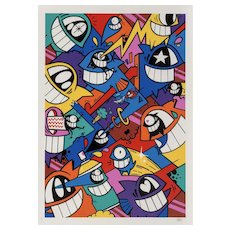 """Happiness Everywhere"" Framed Print by Famous Street Artist Pez"