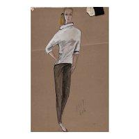 Original Edith Head Artwork (2) for The Sting (1973 Academy Award Winner)
