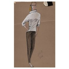 Original Edith Head Artwork (2) for The Sting (1973 Academy Award Winner)