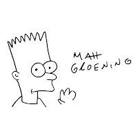 Autographed Bart Simpson Illustration - Original Art by Matt Groening