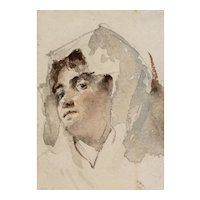 Four Vintage Watercolor Paintings from 1800's