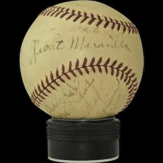 1939 Albany Senators Signed Baseball
