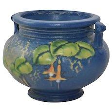Vintage  1938 Roseville Bleeding Heart Blue Jardinaire Vase 645-3