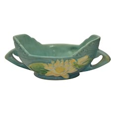Vintage Roseville Water Lily 439-6 Bowl Console