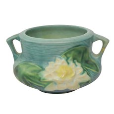 Vintage Roseville Water Lily 663-3 Small Jardinaire Bowl