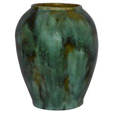 Vintage Brush McCoy Green Teal Onyx Vase