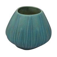 Vintage Van Briggle Pottery Teal Yucca Leaf Planter