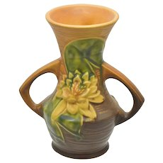 Roseville Water Lily 73-6 Two Handled Vase