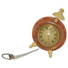 Celluloid Tape Measure Alarm Clock