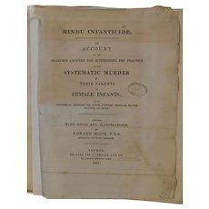 1811 Hindu Infanticide Edward Moor London Rebound Original Text