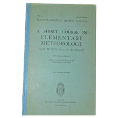 Short Course Elementary Meteorology WH Pick 5th Ed 1938 Air Ministry