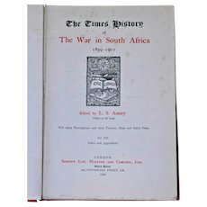 Time History of War in South Africa 1899-1902 Amery HB Vol VII London 1909