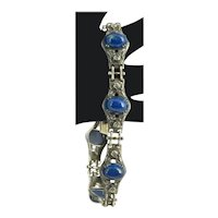 Sterling Wachenheimer Brothers Art Nouveau Bracelet Lapis