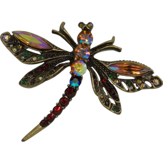 Chico Colorful Dragonfly Brooch