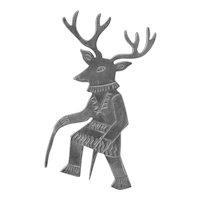 Vtg Sterling Deer Dancer Pin Brooch Hallmarked