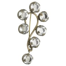 Question Mark Pin Paste Crystal Stones Brooch