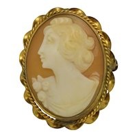 Early 1900's Left Facing Cameo Twist Frame Shell