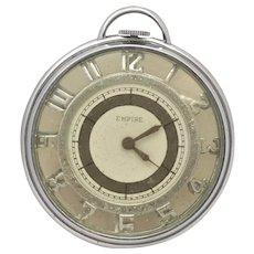 Vintage 1920's Empire Pocket Watch ETNA Watch Co Geneva Skeleton Style