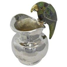 Los Castillos Silver Plated Creamer Parrot Handle