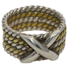 Athra Trading ATI Rope Twisted Sterling Ring