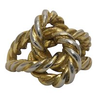 Sterling Panetta Twisted Rope Ring