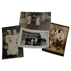 Group of 4 Vintage Groups of Children Photos Real Photo Post Cards