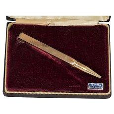 Swank Gold Filled Memo-Tie-Klip Pencil LIke New in Original Box