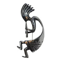 Kokopelli Sterling Brooch Pin