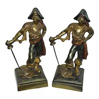 Vintage Paul Herzel Pirate with Sword Bookends