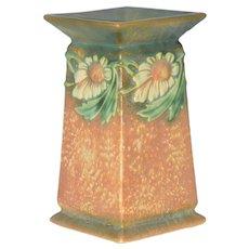 Roseville Dahlrose Square Vase