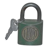 ILCO Brass Lock & Key