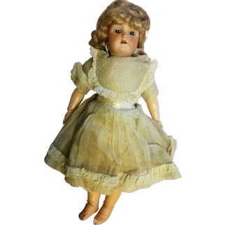 "Vintage Heinrich Handwerck Simon and Halbig 18"" bisque doll"
