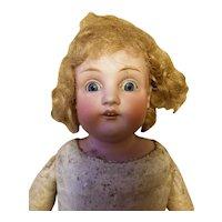 "Kestner vintage doll 18"" Such beautiful bright blue eyes!"
