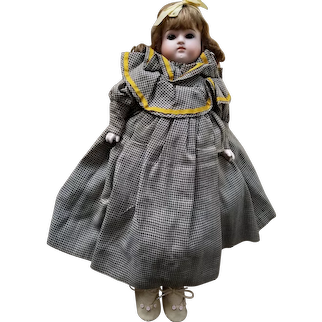 Vintage German bisque doll 16""