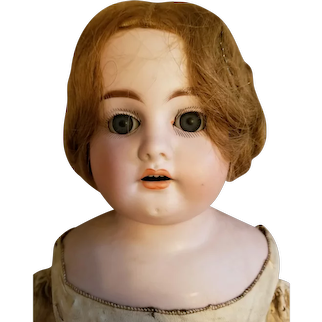 "Heinrich Handwerck bisque 25"" vintage 19th Century doll"