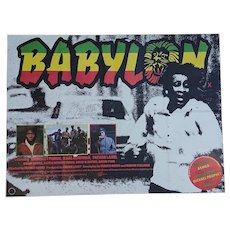 'Babylon' Vintage Movie Poster - Rare country of origin UK quad for this 1980 film.