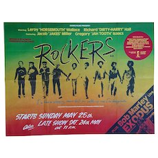 'Rockers' - Vintage Movie Poster. The original one sheet movie poster. Osiris 1971.