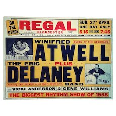 Winifred Atwell - Music Hall Poster