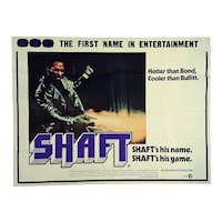 'Shaft'  Vintage Movie Poster - The original one sheet movie poster, MGM, 1971.