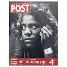 'Is There a British Colour Bar'? - Picture Post 1949, 40 paged magazine.