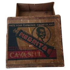 Negrita Box of Ca-Va-Seul: Stove Cleaner. Belgium c. 1940's