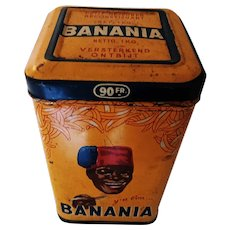 "French ""Banania"" 1930's vintage breakfast drink tin."